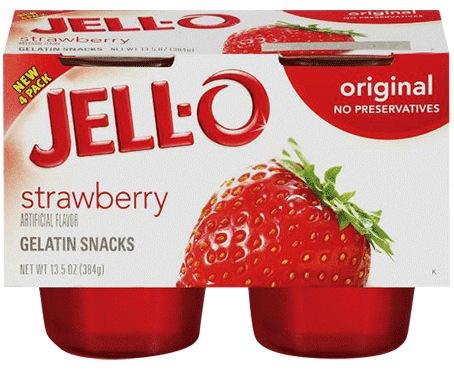 Jello strawberry