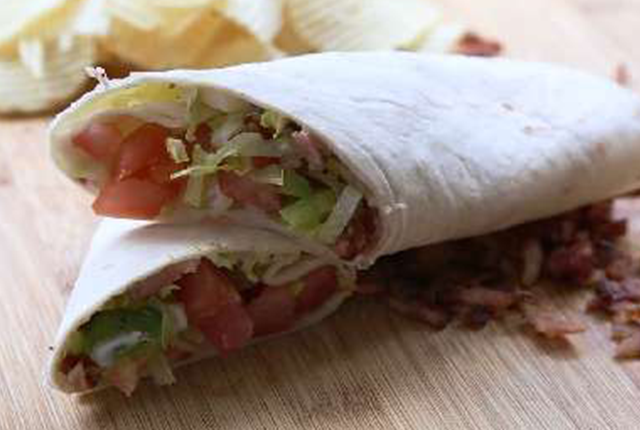 Braces friendly recipe-b.l.a.t. wraps.