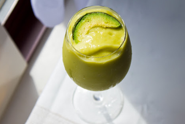 Braces friendly recipe-pino-vocado smoothie.