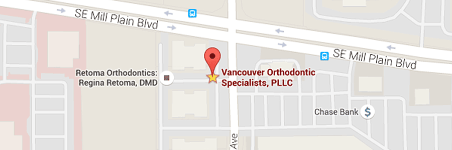 map of Vancouver Orthodontic Specialists