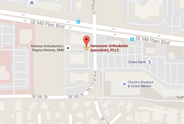 map of Vancouver Orthodontic Specialists, PLLC