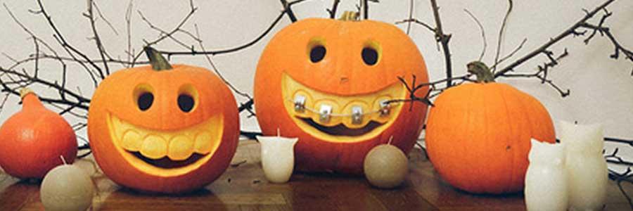 pumpkin wearing braces