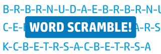 ortho word scramble