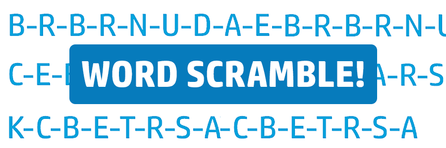 Ortho-themed Word Scramble for Kids