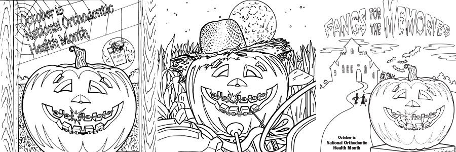 free orthodontic themed halloween coloring pages