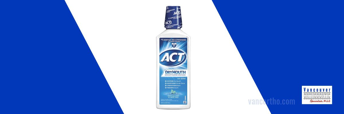 Image of ACT dry mouth mouthwash which can help with dry mouth from braces