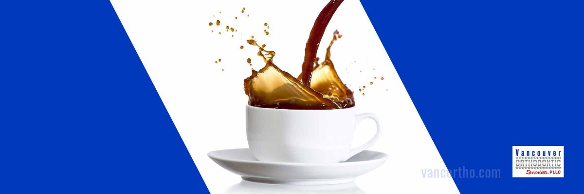 Image of coffee spilling
