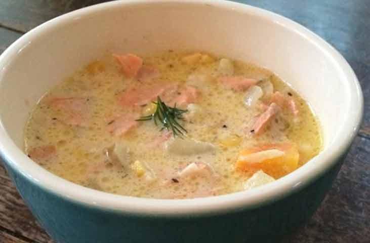 braces friendly salmon chowder