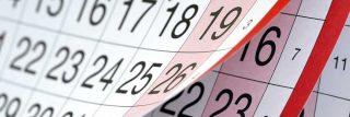 Calendar symbolizing delays in orthodontic treatment