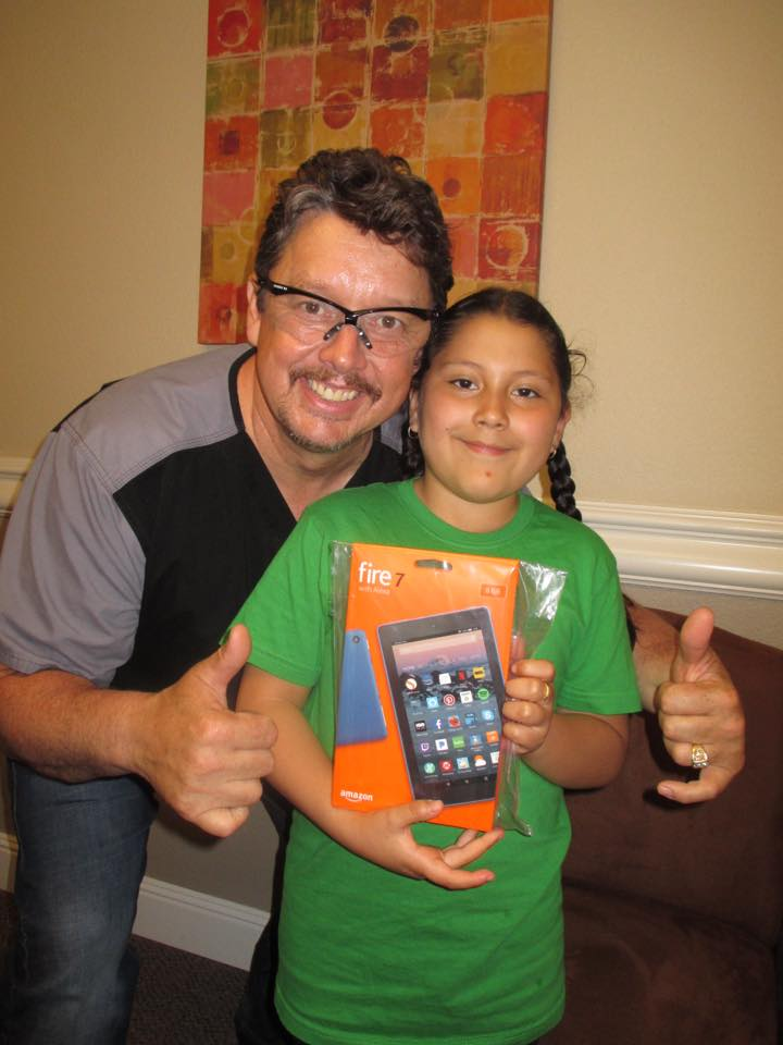 Katerine Perez won Kindle Fire