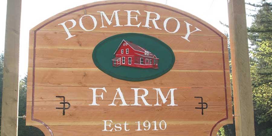 Sign from Pomeroy Farm