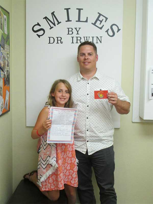 Ashlyn and her dad, our Father's Day office contest winners.