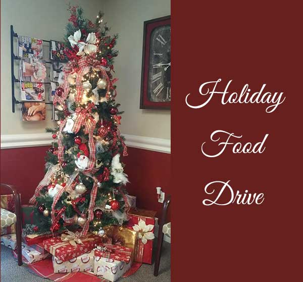 holiday food drive and December office contest