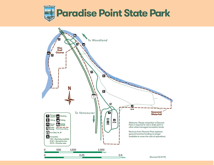 Map of Paradise Point State Park