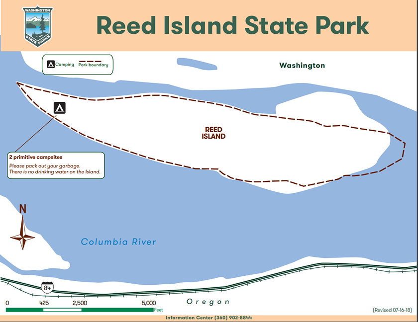 Map of Reed Island State Park