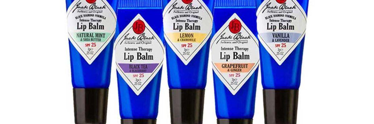 5 varieties of Jack Black lip balm