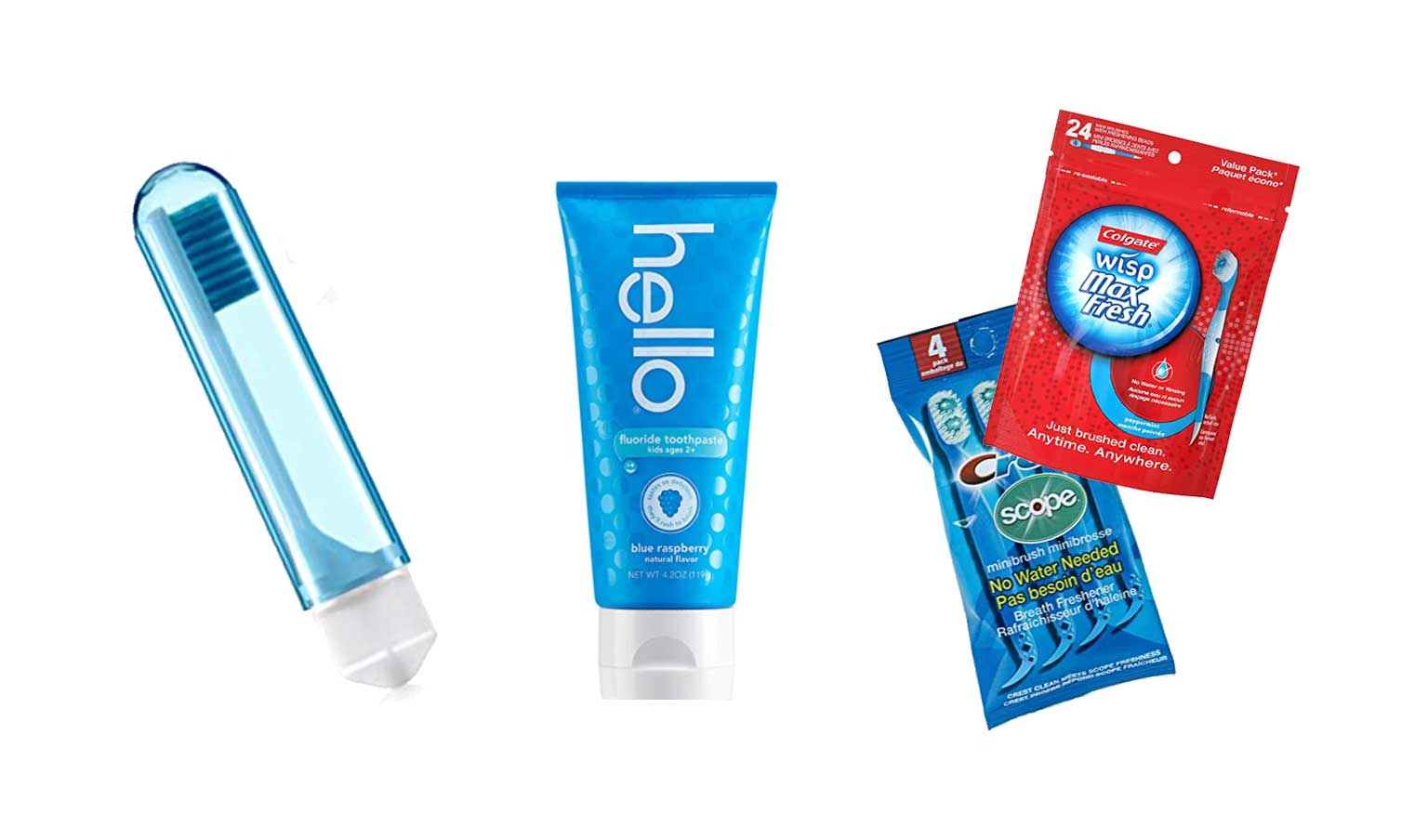 braces care kit travel-sized toothpaste and toothbrush